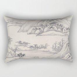 River Landscape in Autumn Rectangular Pillow