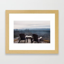 You Can Sit With Me Framed Art Print