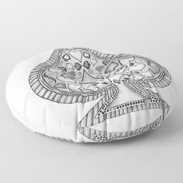 Ace of Spades Black and White Floor Pillow