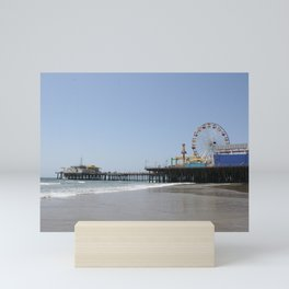 Santa Monica Pier in Los Angeles, California Mini Art Print