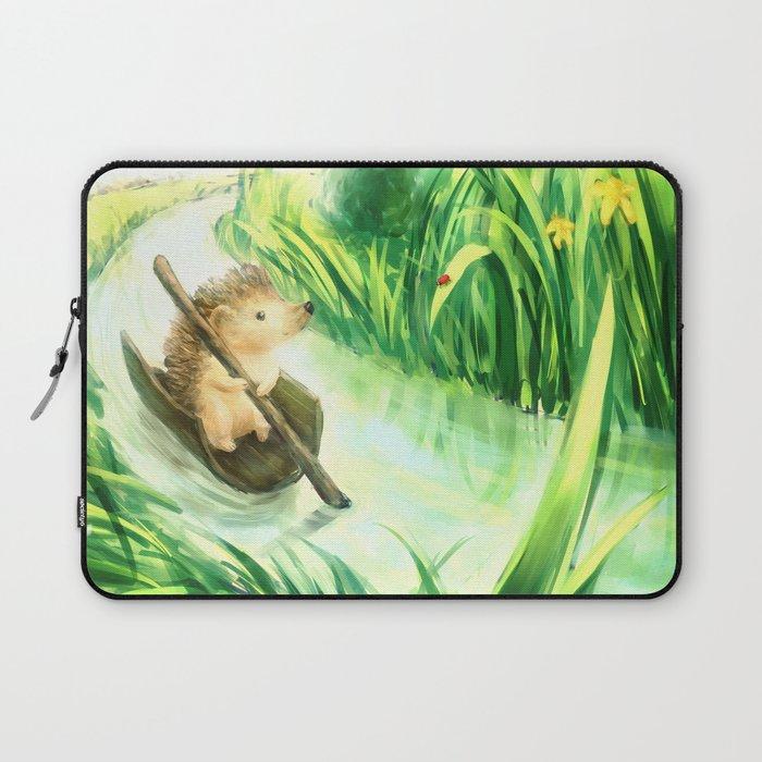 Hedgehog on a journey Laptop Sleeve