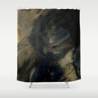 imagerybydianna Shower Curtains featuring fade to shadow by Imagery by dianna