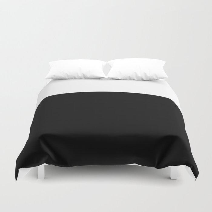 Color Block-Black and White Bettbezug