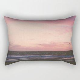 Beachy Birdy Sunset Rectangular Pillow