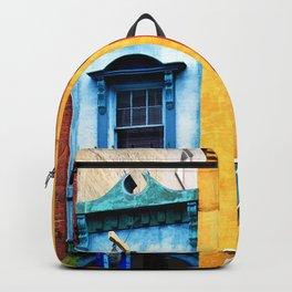Blue Narrow House Backpack