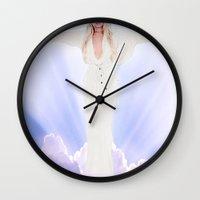 lindsay lohan Wall Clocks featuring Lindsay Lohan - Jesus Parody by hunnydoll