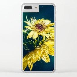 Sunflower At Sunrise Clear iPhone Case