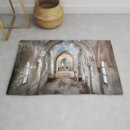 Abandoned Church in Decay Rug
