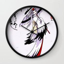 Grateful Crane by Nipponaisuki .....(Calligraphy)Hiroko Fukuda of Wakoshi Wall Clock
