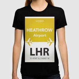 LHR yellow one T-shirt