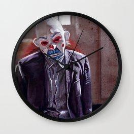 The Sad Clown Of Gotham Wall Clock