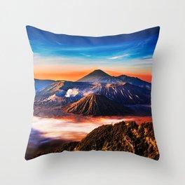 Mount Bromo Throw Pillow
