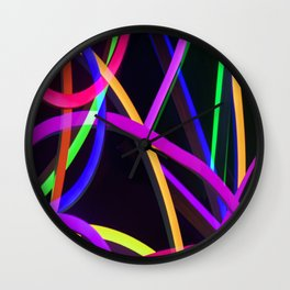 Bold Colors in Abstract Wall Clock