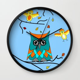 Owl And Birds Wall Clock