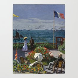 Garden at Sainte-Adresse by Claude Monet Poster