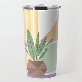 Geometric plant Travel Mug