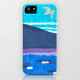 Pacific Northwest, Puget Sound, Abstract, Paper Collage iPhone Case