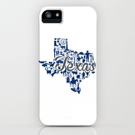 Rice -Texas Landmark State - Gray and Blue Rice University Theme iPhone Case