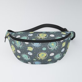Squids in Space - Blue + Green Fanny Pack
