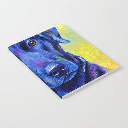 Colorful Labrador Retriever Dog Notebook