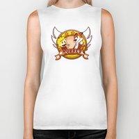 calvin and hobbes Biker Tanks featuring Calvin and Hobbes: Hobbes The Stuffed Tiger by Macaluso