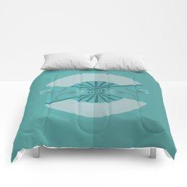 Mono Green Japan Fan Comforters