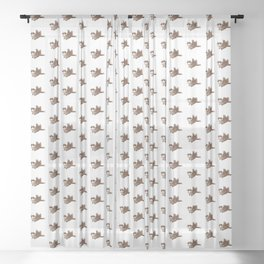 sparrow pattern Sheer Curtain