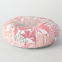 Pink peonies. Floor Pillow
