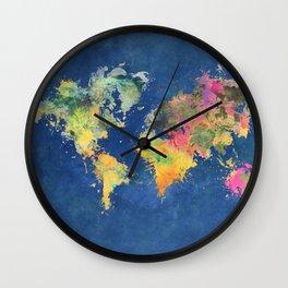 world map 93 #worldmap #map #world Wall Clock