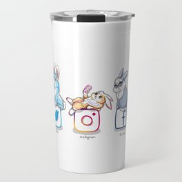 social networks buns Travel Mug