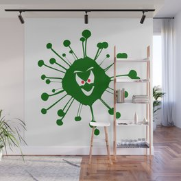 Evil Face Viral Infection Silhouette Wall Mural