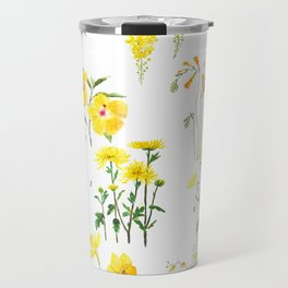 yellow and orange flower collections Travel Mug