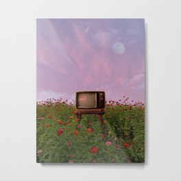 go outside and watch tv Metal Print