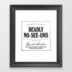 Deadly No-See-Ums Framed Art Print