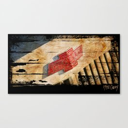 Chevy Rat Rod Badge Canvas Print