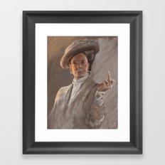 Maggie Smith Gives the Finger Framed Art Print