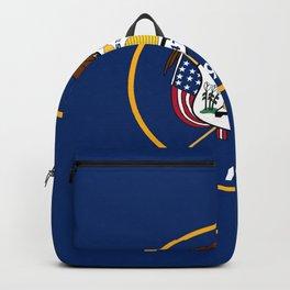Flag of Utah,america,Usa,Salt Lake City,Beehive State, desert,Utahn,Utahan,western,Logan Backpack