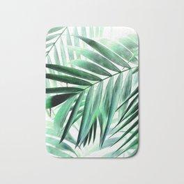 Tropical green leaves design Bath Mat