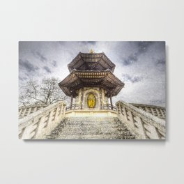 The Pagoda Battersea Park London Vintage Metal Print