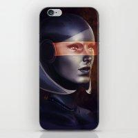 mass effect iPhone & iPod Skins featuring Mass Effect: EDI by Ruthie Hammerschlag