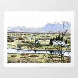 Golden Circle, Iceland Art Print