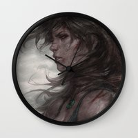artgerm Wall Clocks featuring Survivor by Artgerm™