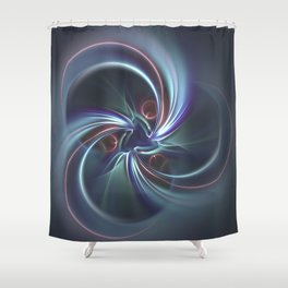 Moons Fractal in Cool Tones Shower Curtain
