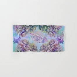 Watercolor hydrangeas and leaves Hand & Bath Towel