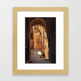 ARCHWAY and Sardinian fish traps Framed Art Print
