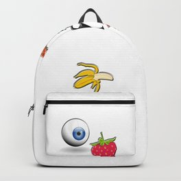 A variety of abstract objects Backpack