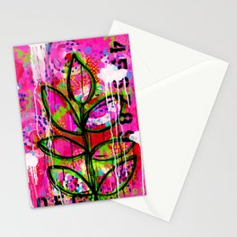 Leaves painting - Abstract Stationery Cards