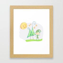 Christmas elf Framed Art Print
