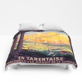 Vintage poster - En Tarentaise, France Comforters