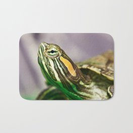 Small red-ear turtle Bath Mat